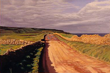 """Shore Road oil on canvas 20"""" x 30"""""""